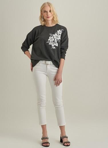 Monamoda Aplike Detaylı Sweatshirt Antrasit